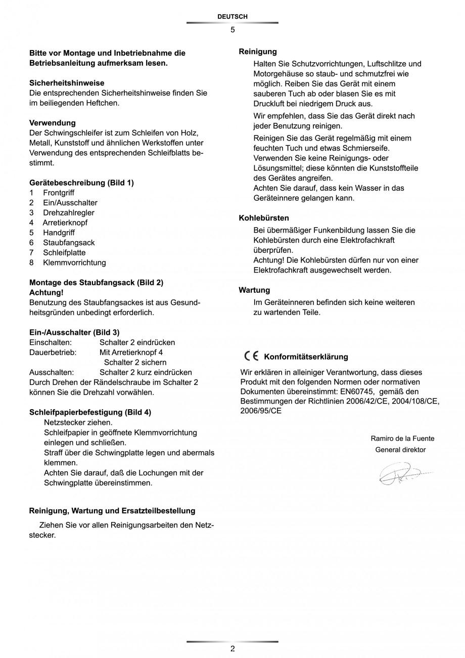 Pagina 6 - Slefuitor Delta 180 W - Manual STAYER LD 140 Instructiuni montaj, utilizare Engleza,...