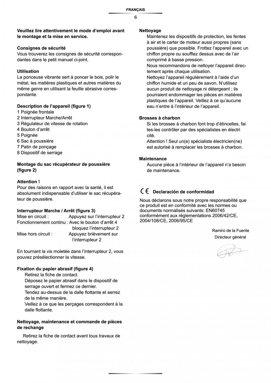 Pagina 7 - Slefuitor Delta 180 W - Manual STAYER LD 140 Instructiuni montaj, utilizare Engleza,...