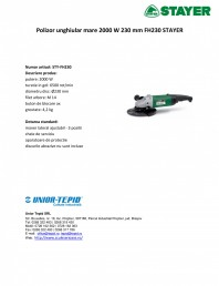 Polizor unghiular mare 2000 W 230 mm