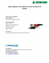 Polizor unghiular mare 2200 W, disc 230 mm