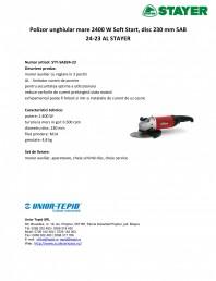 Polizor unghiular mare 2400 W Soft Start, disc 230 mm
