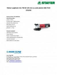Polizor unghiular mic 730 W 125 mm cu cutie plastic