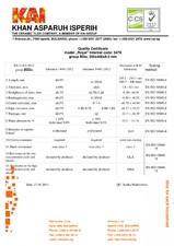 Certificat de calitate KAI FIORE CERAMICA
