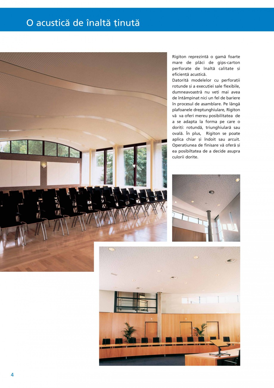 Pagina 5 - Plafoane acustice Saint-Gobain Rigips Rigiton Catalog, brosura Romana  temperaturi de...