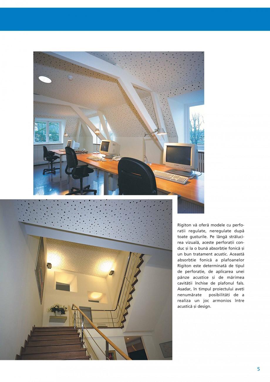 Pagina 6 - Plafoane acustice Saint-Gobain Rigips Rigiton Catalog, brosura Romana iv 10 kg/m2 Clasa ...