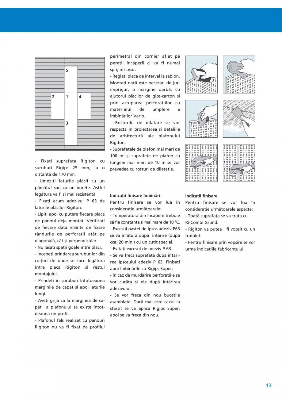 Pagina 14 - Plafoane acustice Saint-Gobain Rigips Rigiton Catalog, brosura Romana ìt a plafonului ...