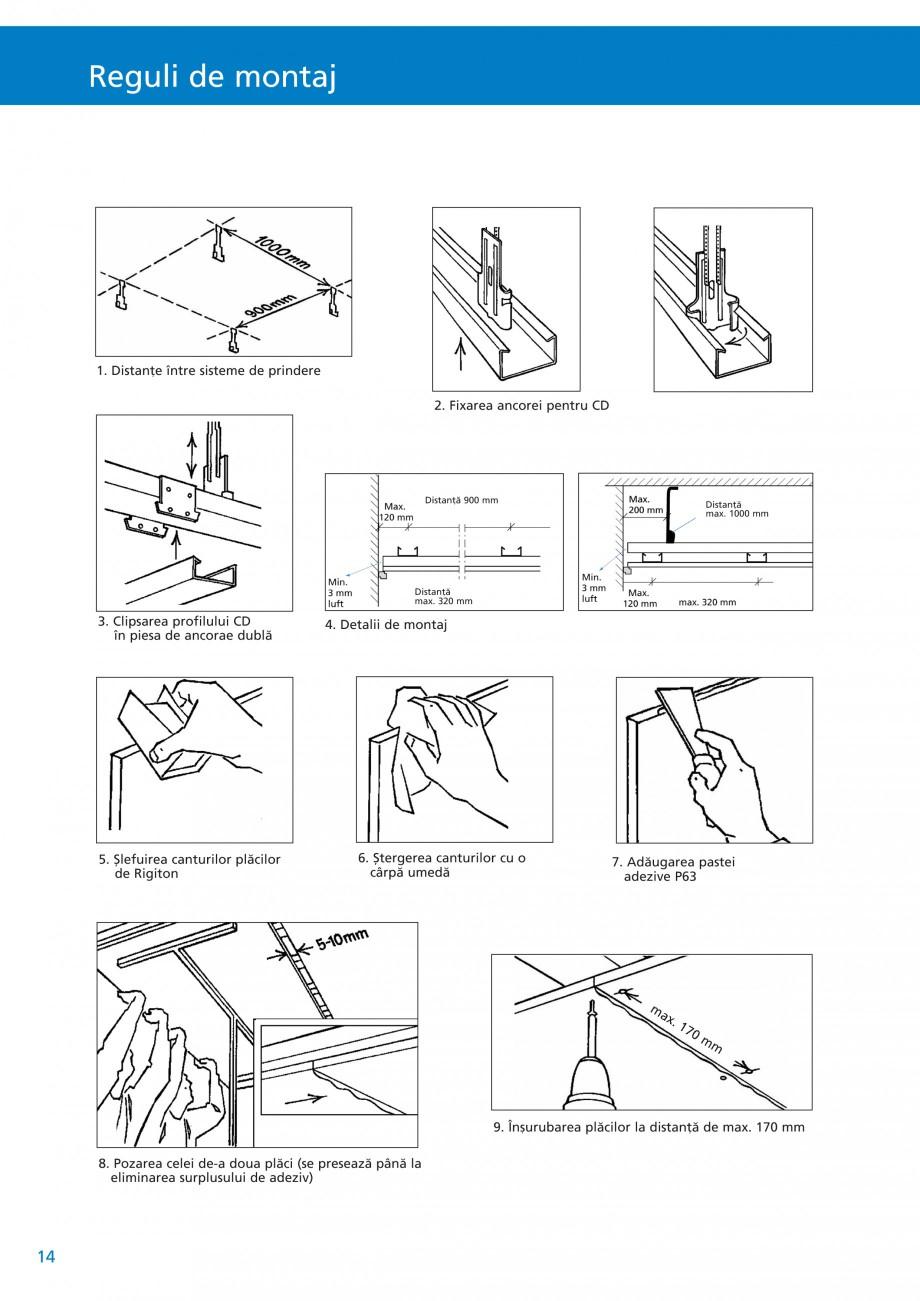 Pagina 15 - Plafoane acustice Saint-Gobain Rigips Rigiton Catalog, brosura Romana fabricantului. fi...