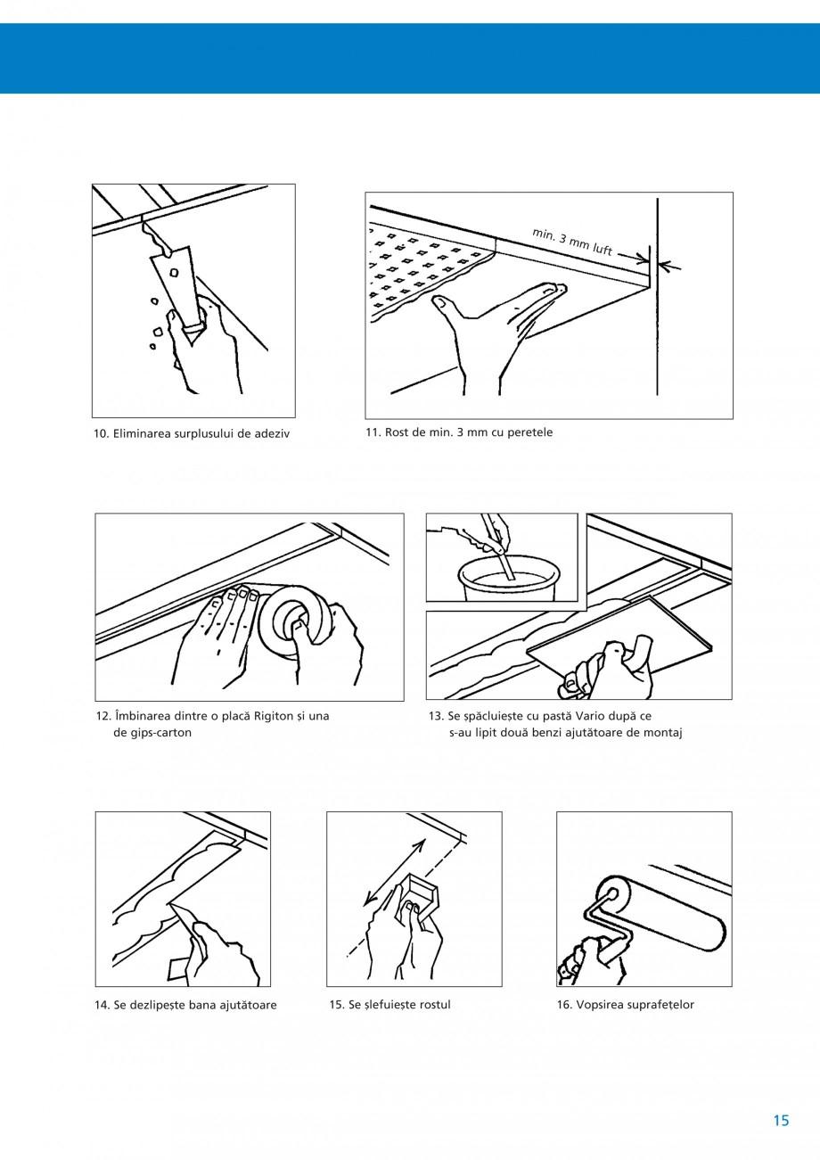 Pagina 16 - Plafoane acustice Saint-Gobain Rigips Rigiton Catalog, brosura Romana  1. Amplasarea...