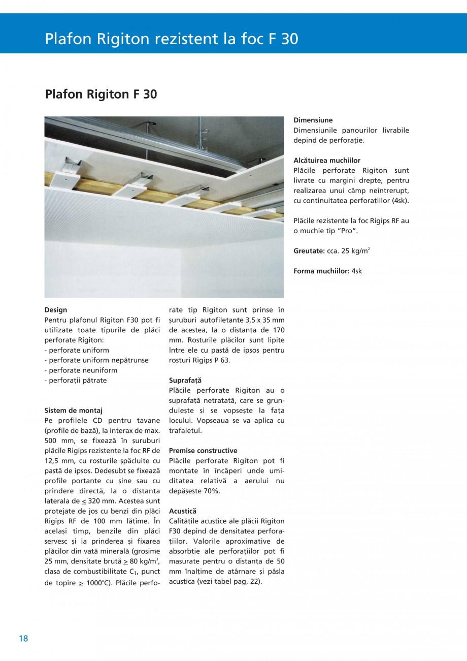 Pagina 19 - Plafoane acustice Saint-Gobain Rigips Rigiton Catalog, brosura Romana 9. çurub...