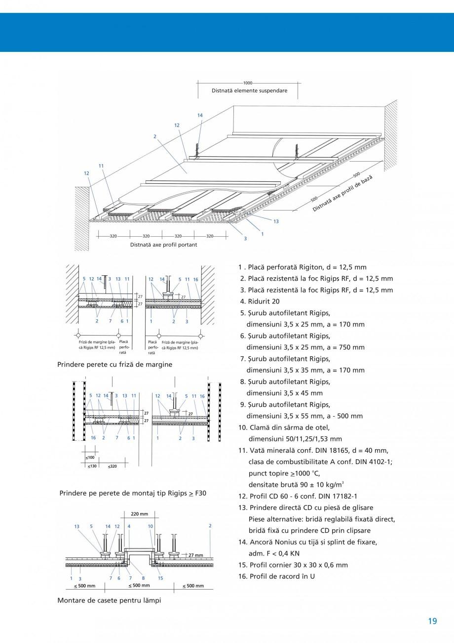 Pagina 20 - Plafoane acustice Saint-Gobain Rigips Rigiton Catalog, brosura Romana  suprafaêì...