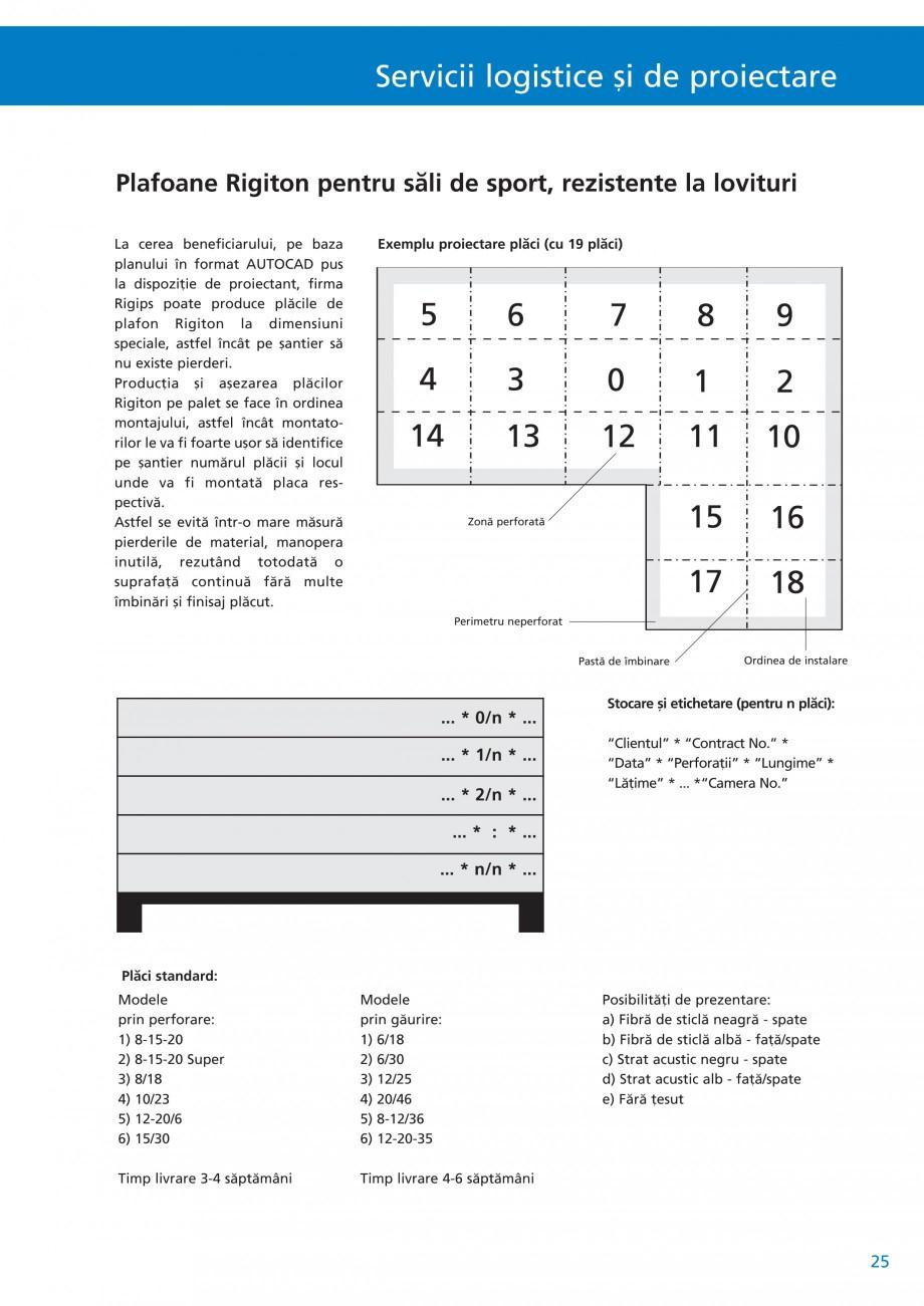 Pagina 26 - Plafoane acustice Saint-Gobain Rigips Rigiton Catalog, brosura Romana or perforate...