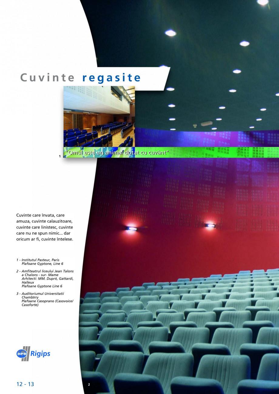 Pagina 12 - Plafoane acustice Saint-Gobain Rigips Gyptone Big Lucrari, proiecte Romana