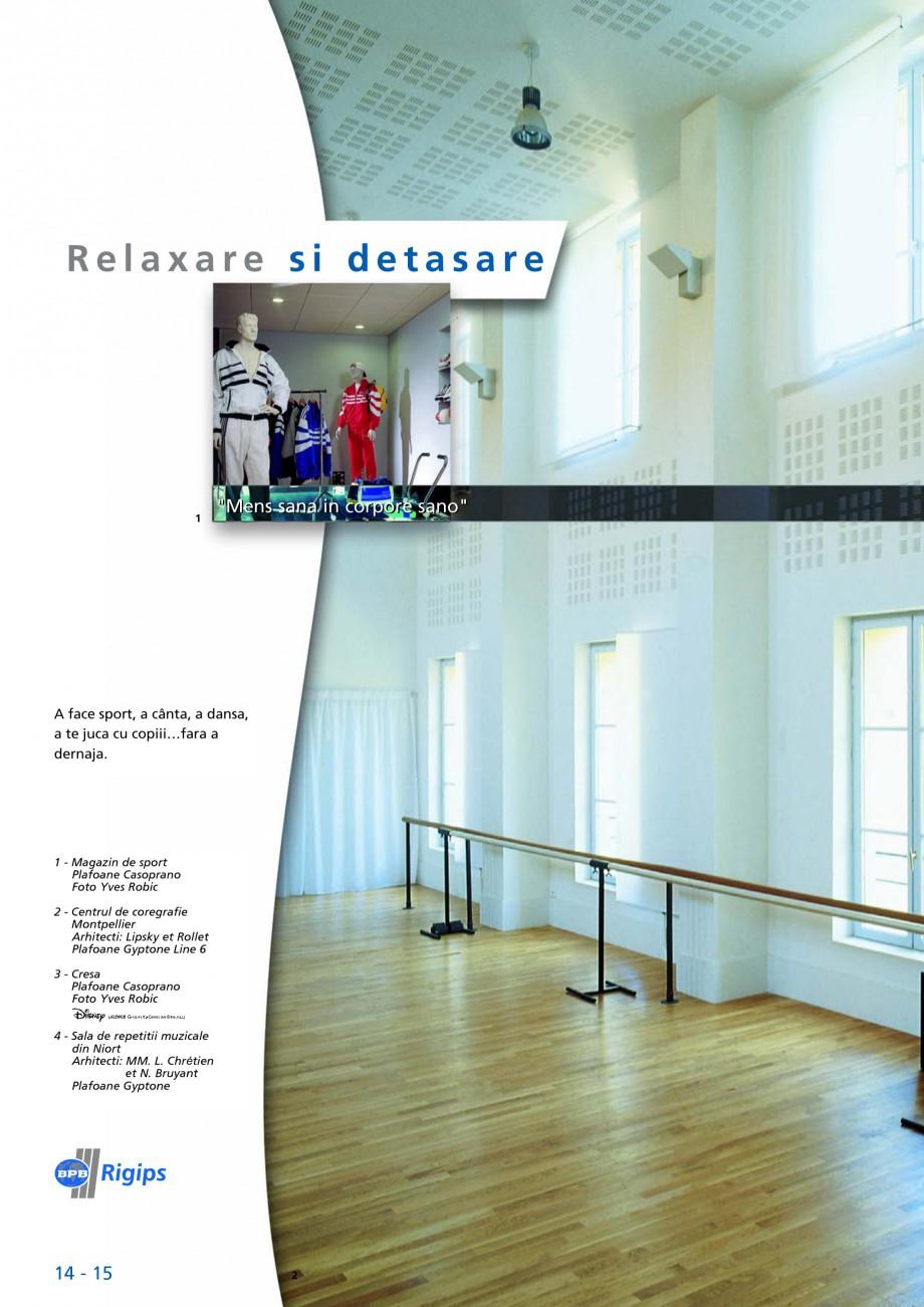 Pagina 14 - Plafoane acustice Saint-Gobain Rigips Gyptone Big Lucrari, proiecte Romana