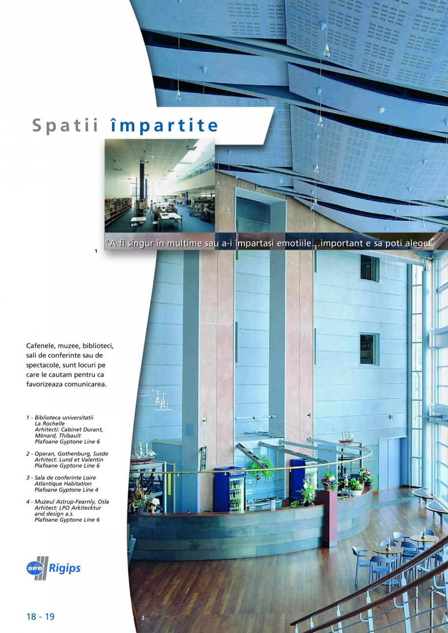 Pagina 18 - Plafoane acustice Saint-Gobain Rigips Gyptone Big Lucrari, proiecte Romana