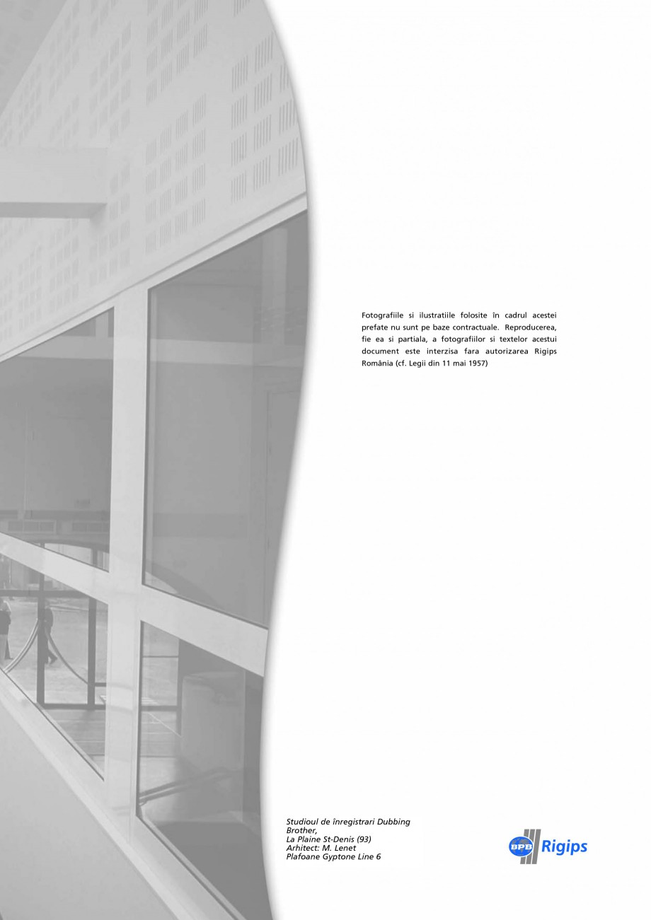 Pagina 27 - Plafoane acustice Saint-Gobain Rigips Gyptone Big Lucrari, proiecte Romana