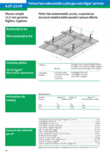 Plafon fals nedemontabil, acustic, suspendat pe structura metalica dubla asezata in planuri diferite - 4.07.2139 RIGIPS