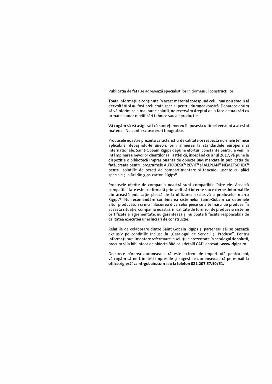 Pagina 2 - Plafoane false demontabile Saint-Gobain Rigips Gyptone® Catalog, brosura Romana...