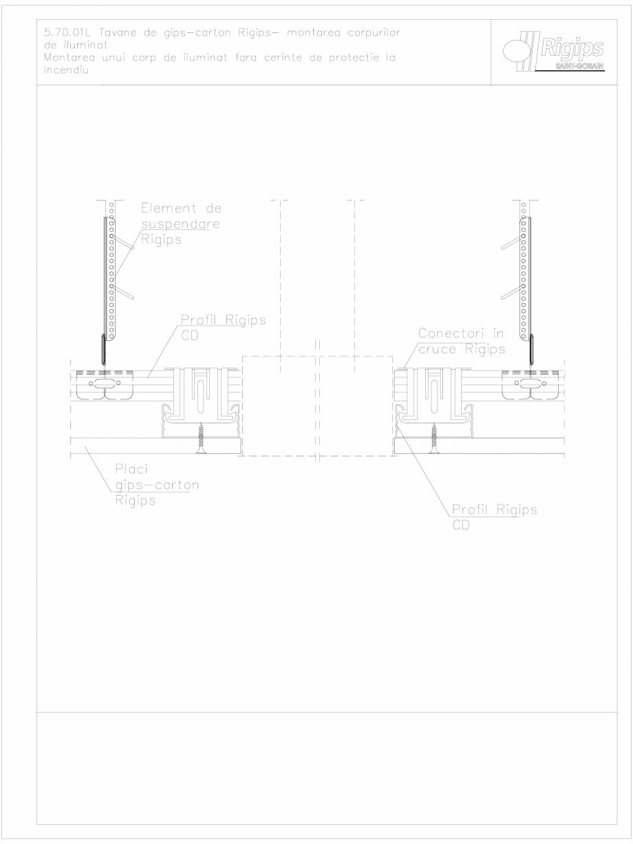 Pagina 1 - CAD-DWG Plafoane de gips-carton Rigips - montarea corpurilor de iluminat - 5.70.01L...