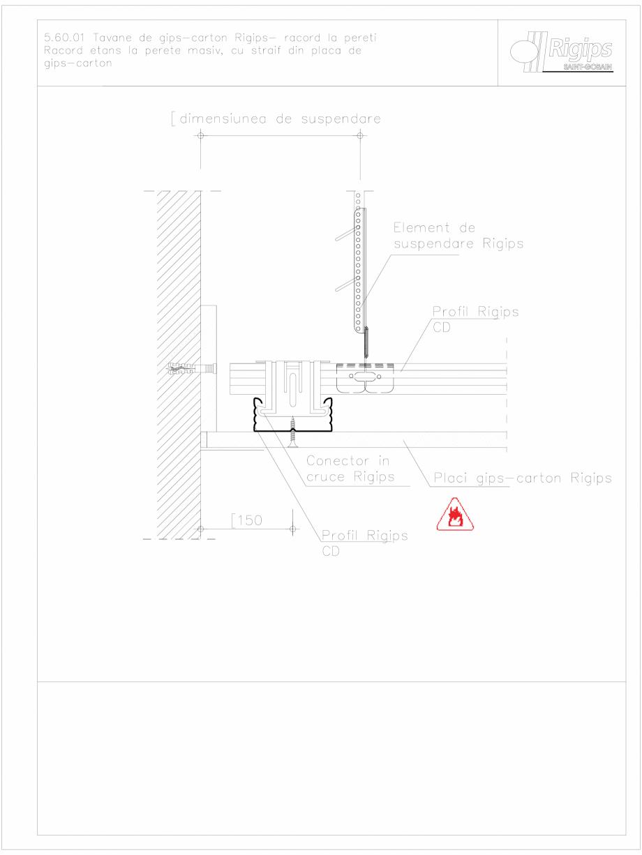 Pagina 1 - CAD-DWG Tavane de gips-carton Rigips- racord la pereti 5.60.01 Saint-Gobain Rigips...