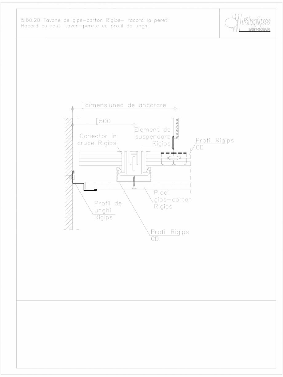 Pagina 1 - CAD-DWG Tavane de gips-carton Rigips- racord la pereti 5.60.20 Saint-Gobain Rigips...