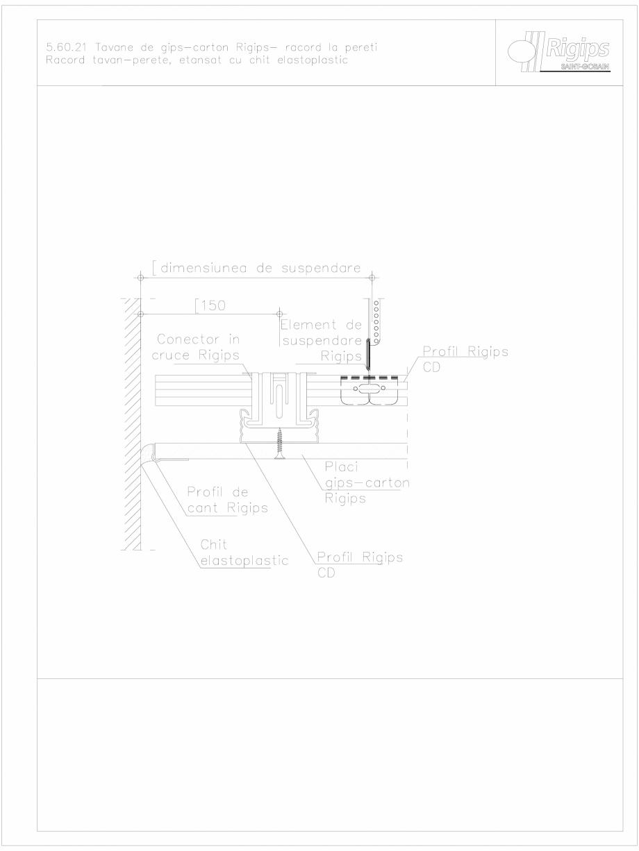 Pagina 1 - CAD-DWG Tavane de gips-carton Rigips- racord la pereti 5.60.21 Saint-Gobain Rigips...