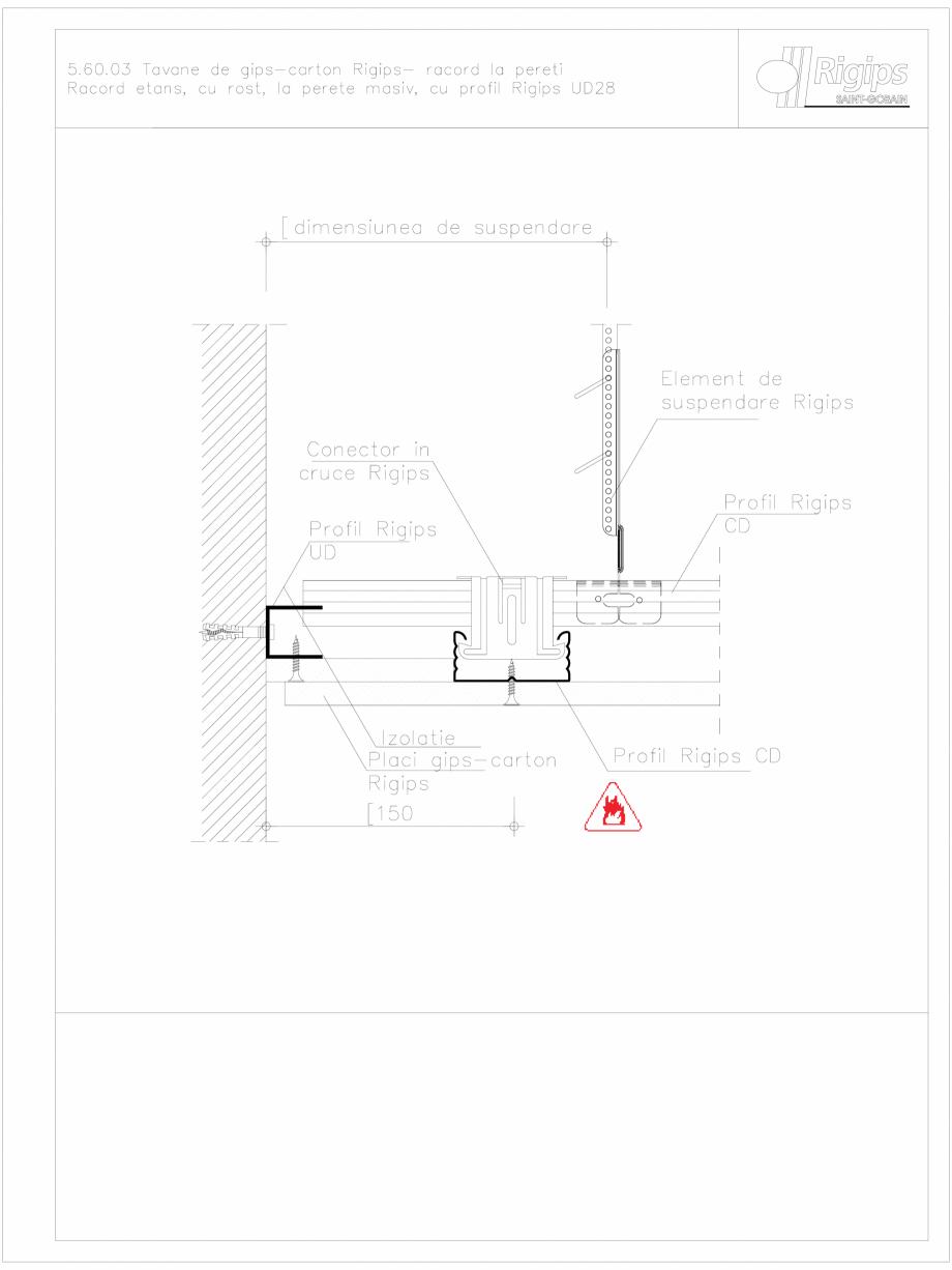 Pagina 1 - CAD-DWG Tavane de gips-carton Rigips- racord la pereti 5.60.03 Saint-Gobain Rigips...