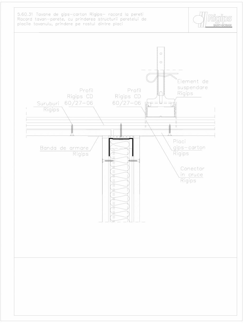 Pagina 1 - CAD-DWG Tavane de gips-carton Rigips- racord la pereti 5.60.31 Saint-Gobain Rigips...