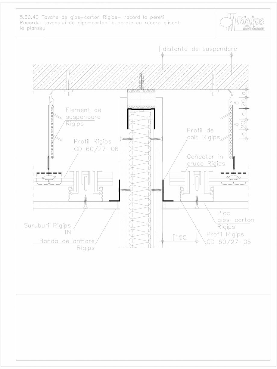 Pagina 1 - CAD-DWG Tavane de gips-carton Rigips- racord la pereti 5.60.40 Saint-Gobain Rigips...