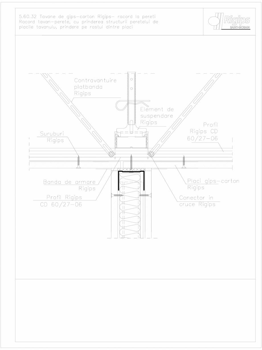 Pagina 1 - CAD-DWG Tavane de gips-carton Rigips- racord la pereti 5.60.32 Saint-Gobain Rigips...