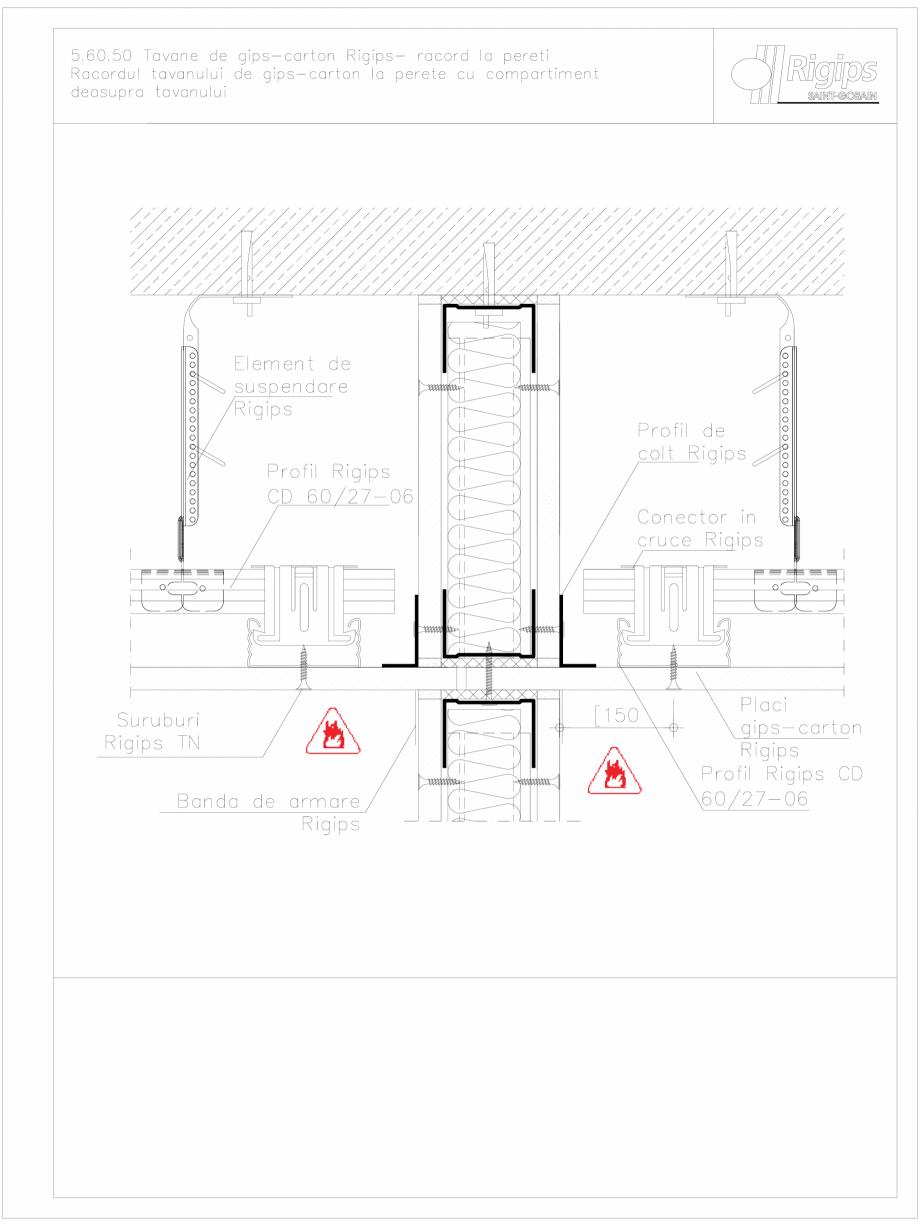 Pagina 1 - CAD-DWG Tavane de gips-carton Rigips- racord la pereti 5.60.50 Saint-Gobain Rigips...