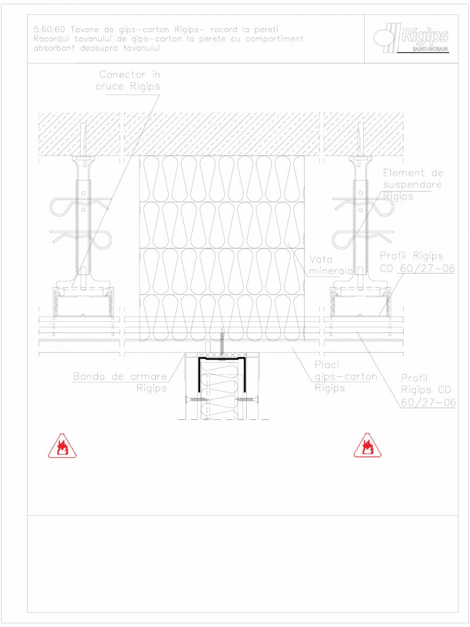 Pagina 1 - CAD-DWG Tavane de gips-carton Rigips- racord la pereti 5.60.60 Saint-Gobain Rigips...