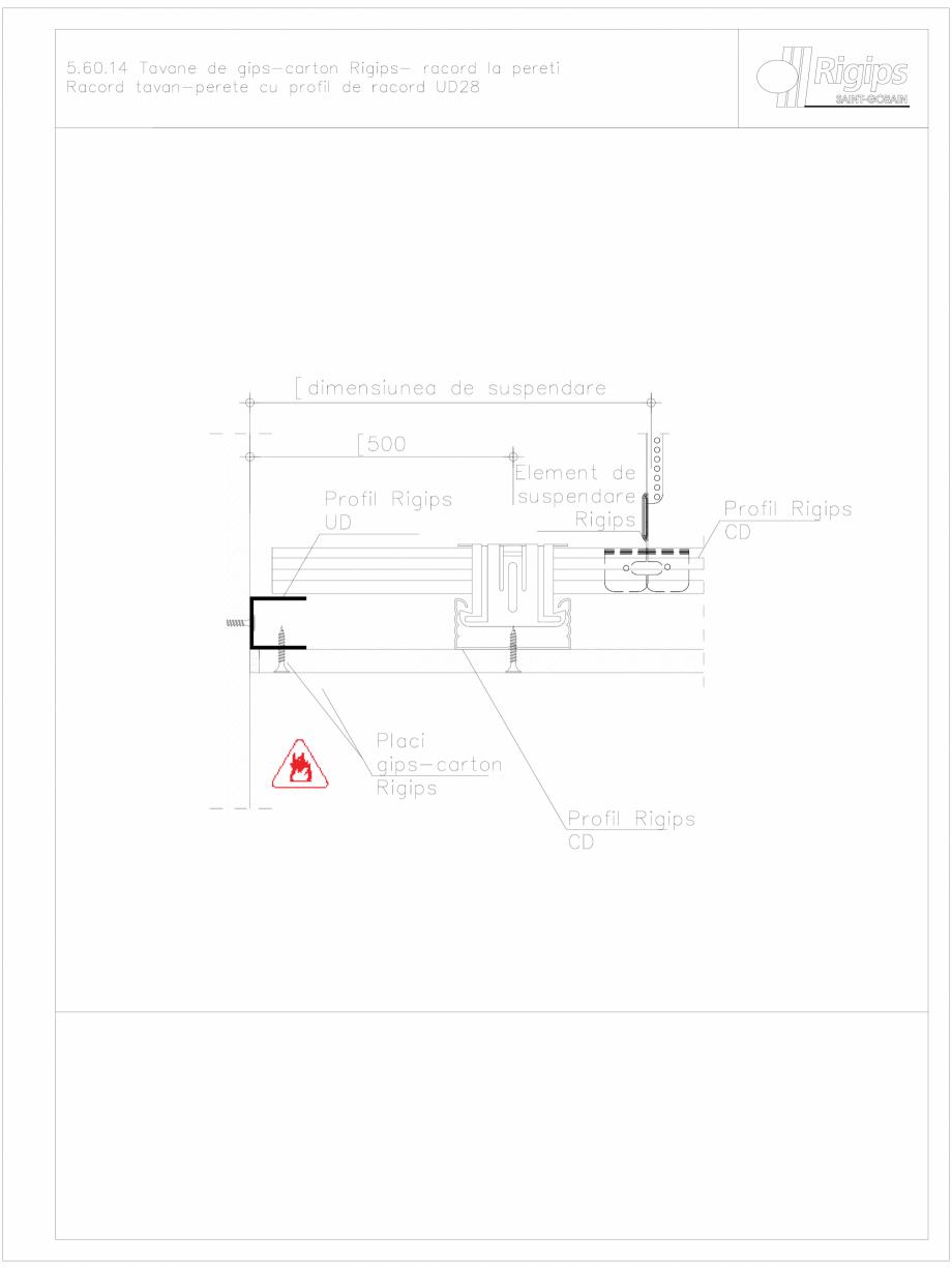Pagina 1 - CAD-DWG Tavane de gips-carton Rigips- racord la pereti 5.60.14 Saint-Gobain Rigips...