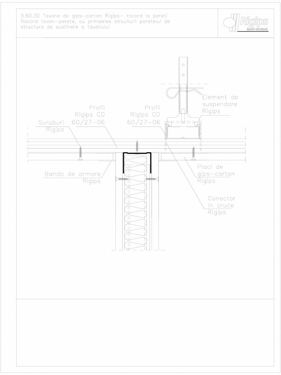 Pagina 1 - CAD-DWG Tavane de gips-carton Rigips- racord la pereti 5.60.30 Saint-Gobain Rigips...