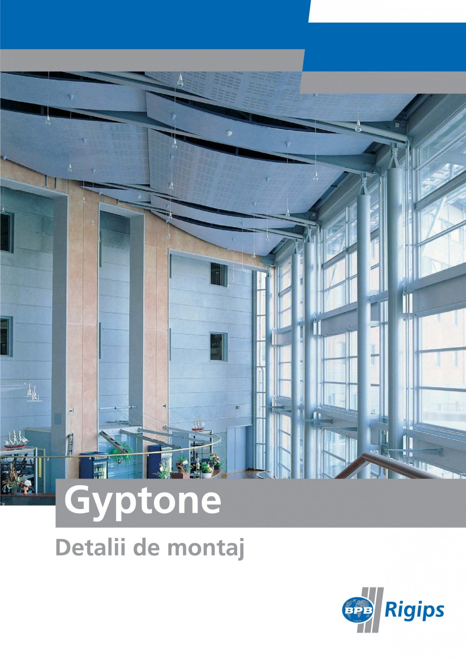 Pagina 1 - Detalii de montaj pentru plafoane casetate Saint-Gobain Rigips Gyptone Instructiuni...