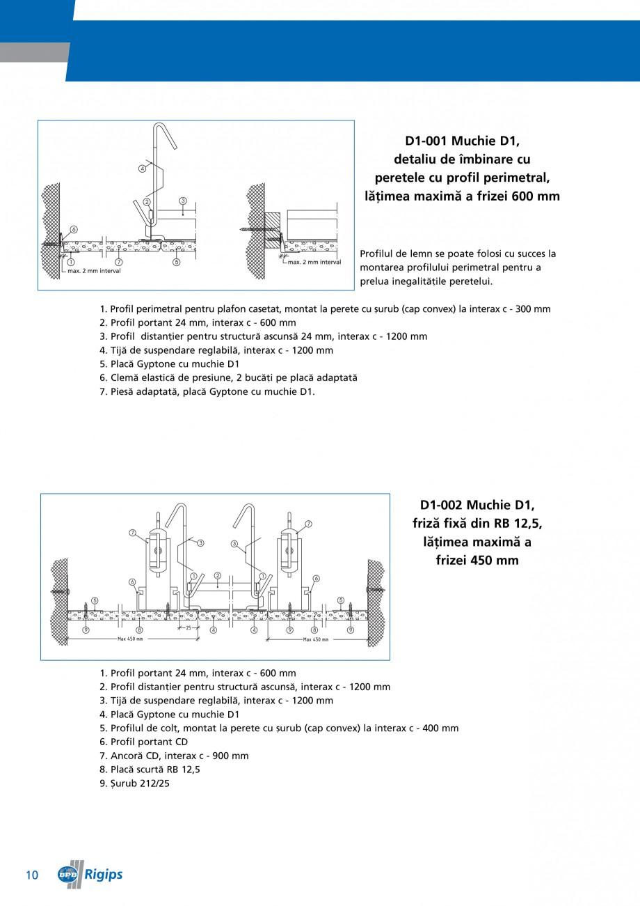 Pagina 10 - Detalii de montaj pentru plafoane casetate Saint-Gobain Rigips Gyptone Instructiuni...