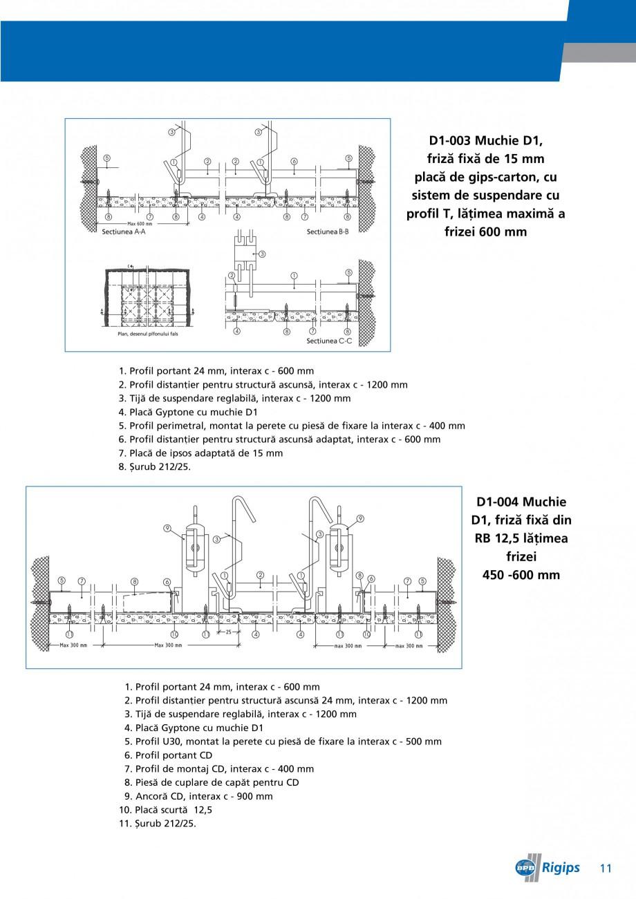 Pagina 11 - Detalii de montaj pentru plafoane casetate Saint-Gobain Rigips Gyptone Instructiuni...