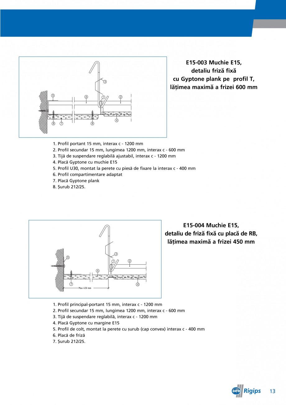 Pagina 13 - Detalii de montaj pentru plafoane casetate Saint-Gobain Rigips Gyptone Instructiuni...