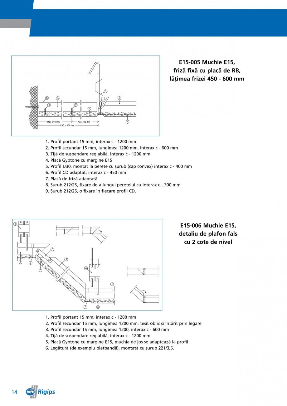 Pagina 14 - Detalii de montaj pentru plafoane casetate Saint-Gobain Rigips Gyptone Instructiuni...