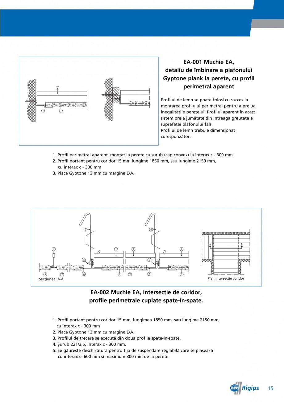 Pagina 15 - Detalii de montaj pentru plafoane casetate Saint-Gobain Rigips Gyptone Instructiuni...