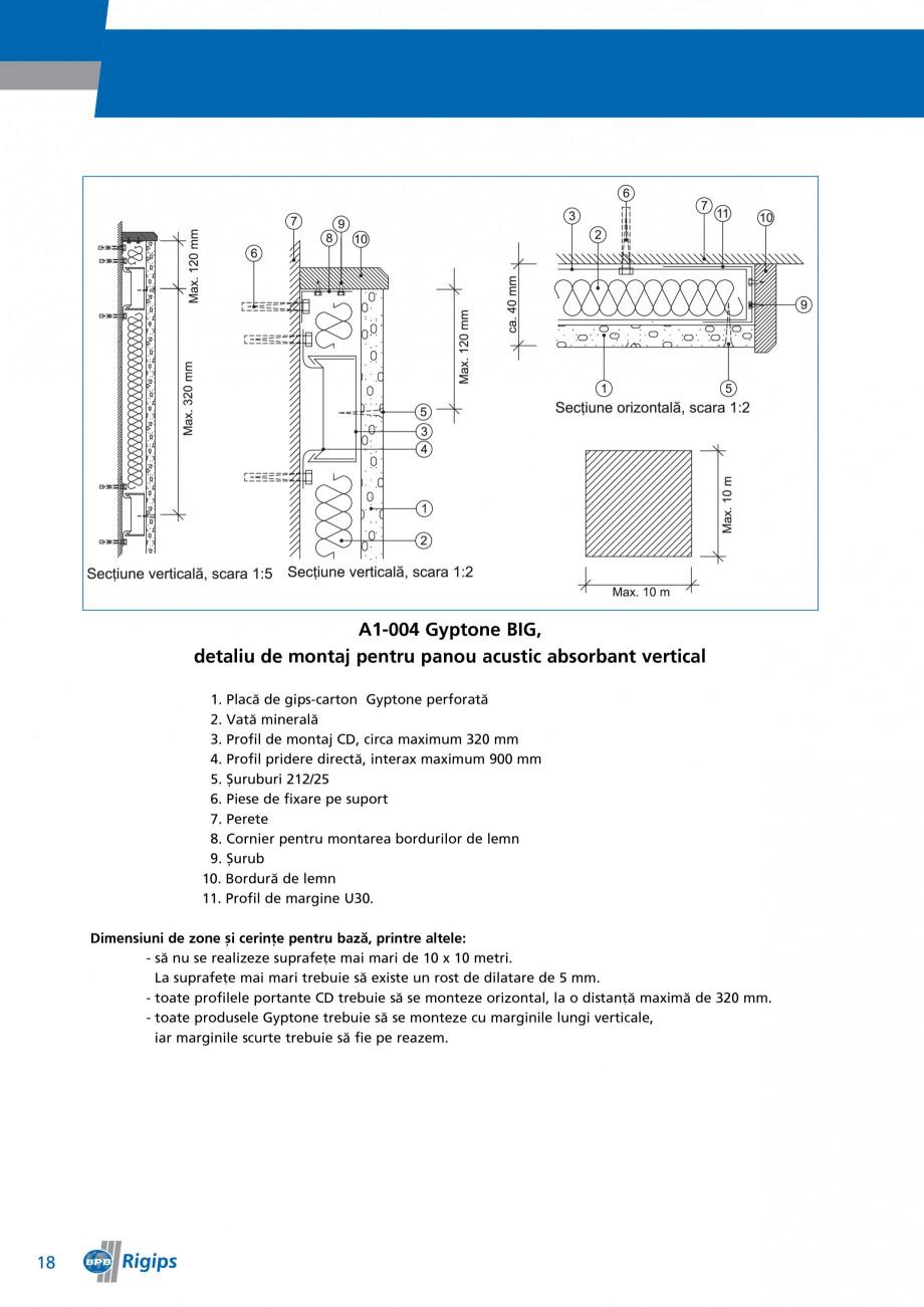 Pagina 18 - Detalii de montaj pentru plafoane casetate Saint-Gobain Rigips Gyptone Instructiuni...