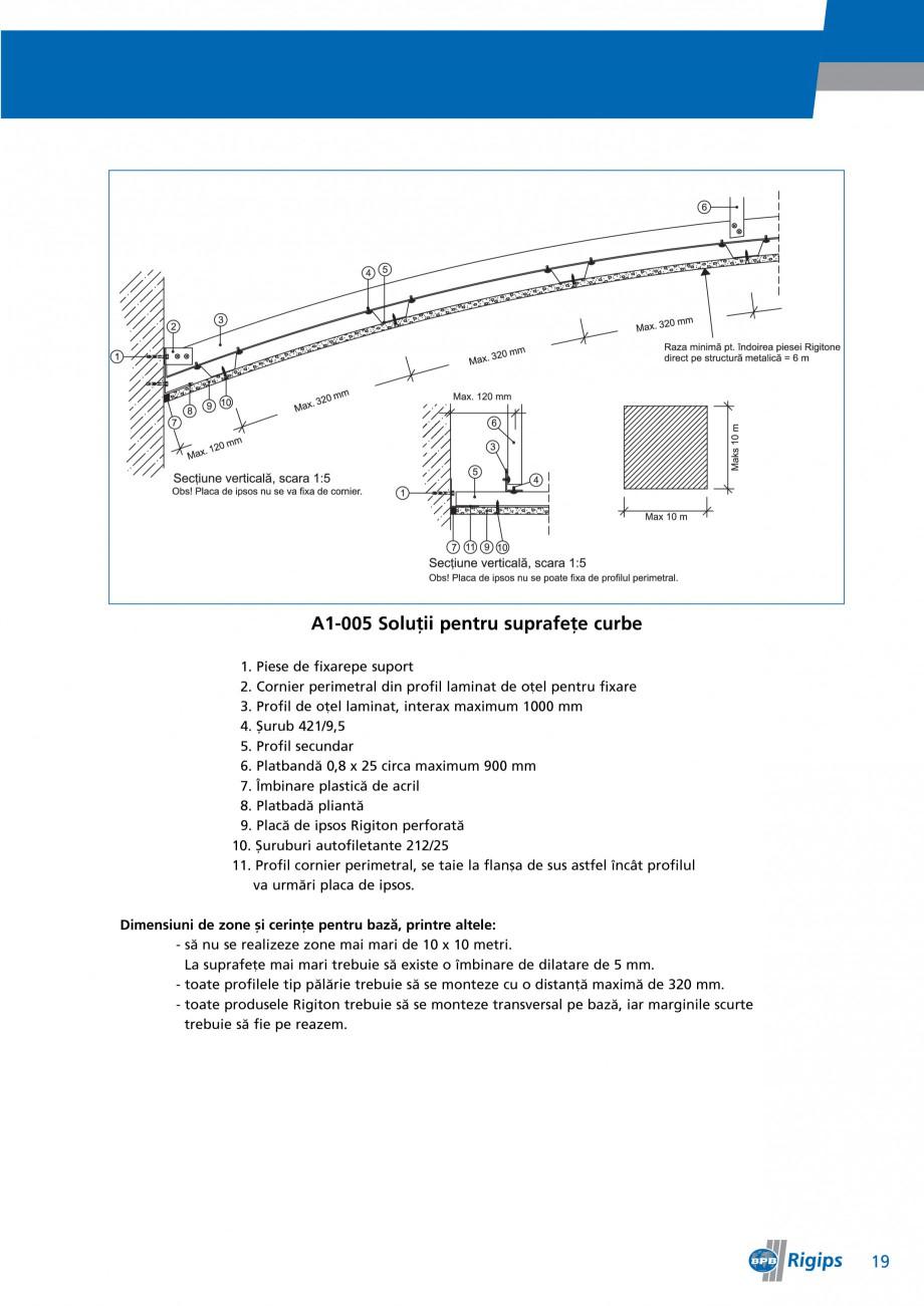 Pagina 19 - Detalii de montaj pentru plafoane casetate Saint-Gobain Rigips Gyptone Instructiuni...