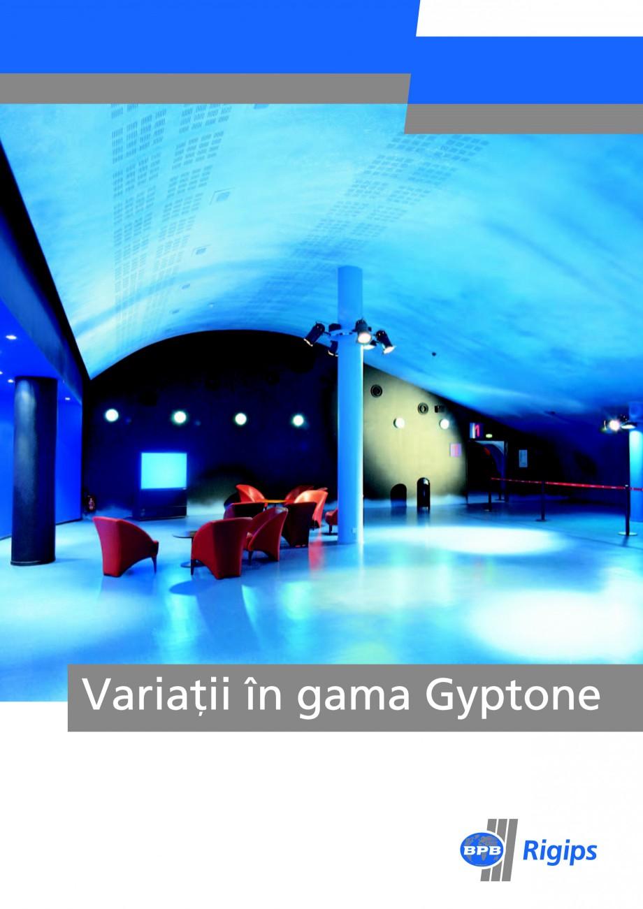 Pagina 1 - Plafoane casetate Saint-Gobain Rigips Gyptone Lucrari, proiecte Romana Foto coperta: - ...