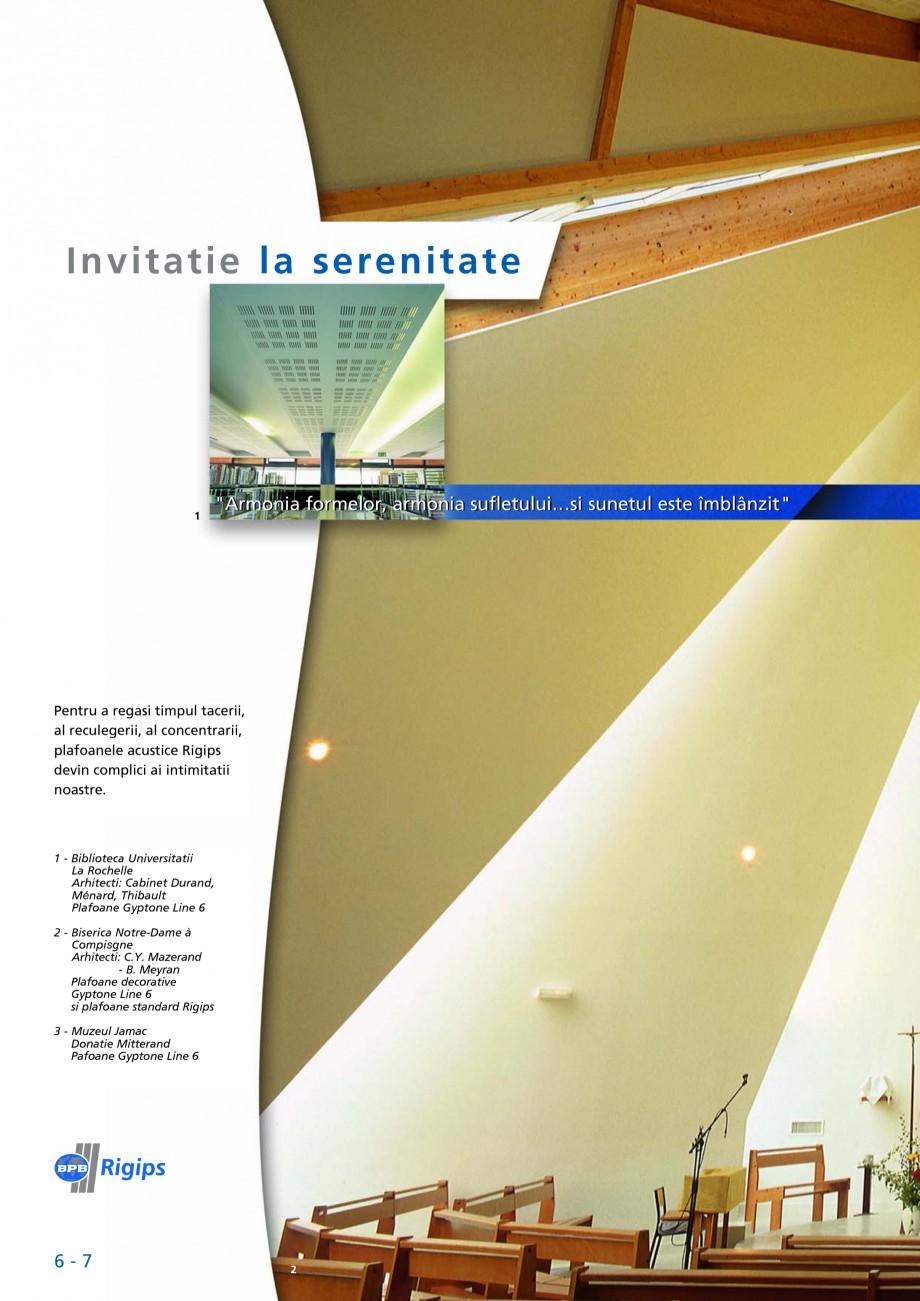 Pagina 6 - Plafoane casetate Saint-Gobain Rigips Gyptone Lucrari, proiecte Romana .s. Plafoane...