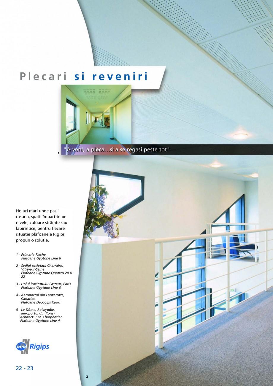 Pagina 22 - Plafoane casetate Saint-Gobain Rigips Gyptone Lucrari, proiecte Romana