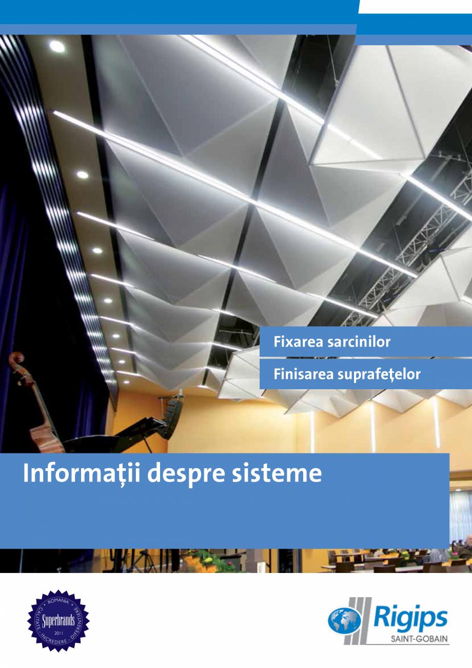 Pagina 1 - Informatii despre sistemele Rigips 2014 Saint-Gobain Rigips Gyprex®, Decogips®,...