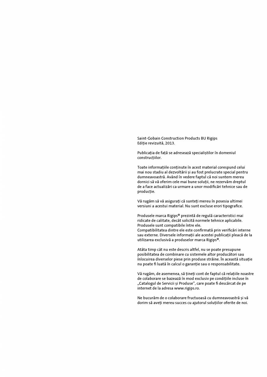 Pagina 2 - Informatii despre sistemele Rigips 2014 Saint-Gobain Rigips Gyprex®, Decogips®,...