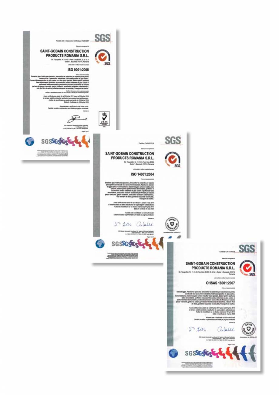 Pagina 11 - Informatii despre sistemele Rigips 2014 Saint-Gobain Rigips Gyprex®, Decogips®, ...