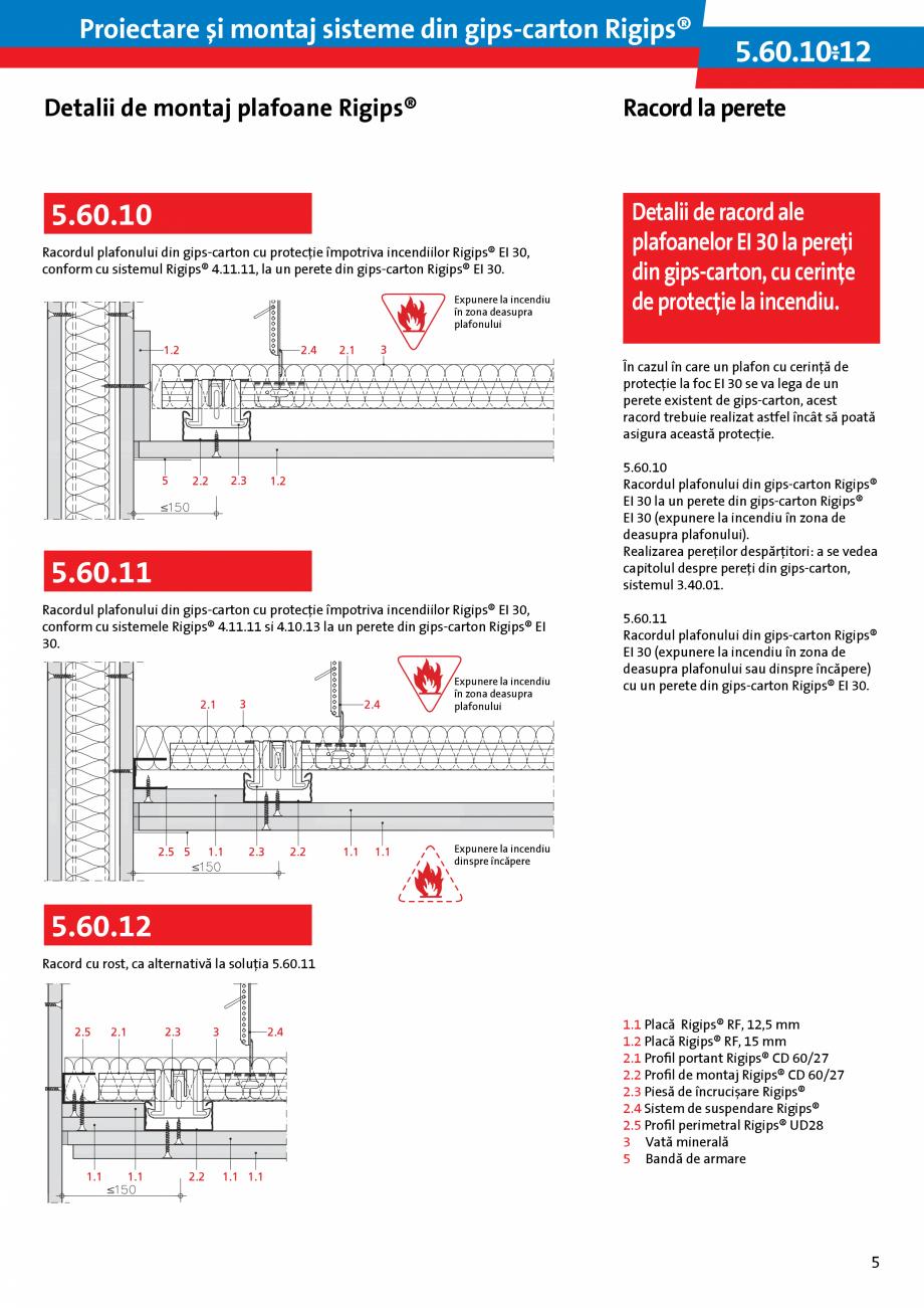 Pagina 5 - Proiectare si montaj sisteme din gips-carton - Plafoane Rigips Saint-Gobain Rigips...