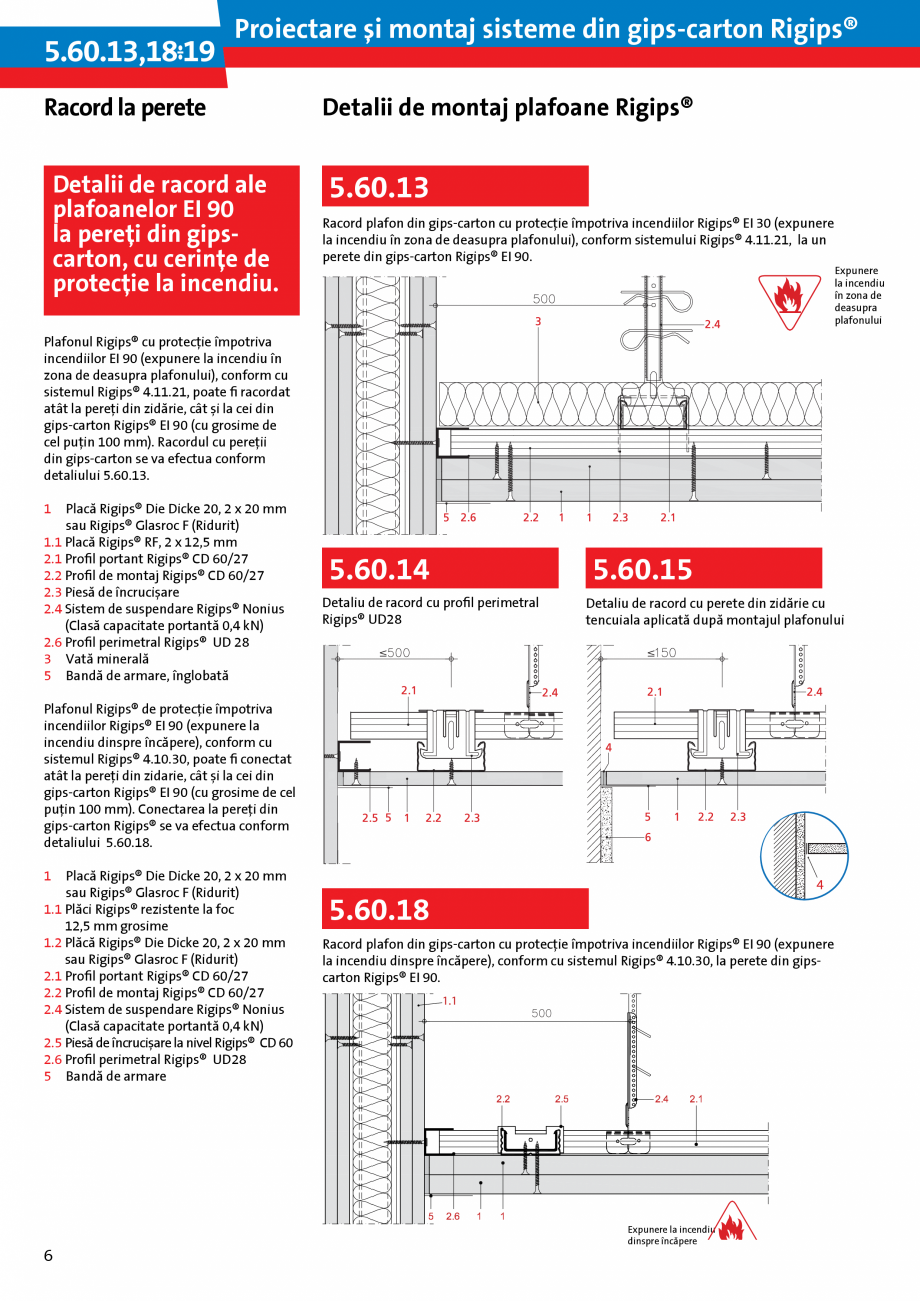 Pagina 6 - Proiectare si montaj sisteme din gips-carton - Plafoane Rigips Saint-Gobain Rigips...