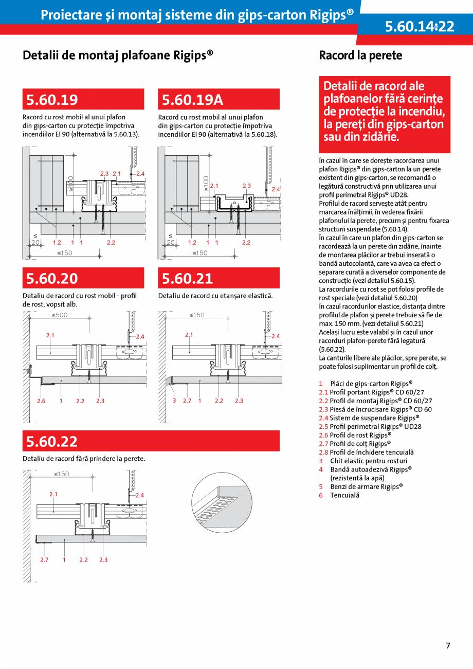 Pagina 7 - Proiectare si montaj sisteme din gips-carton - Plafoane Rigips Saint-Gobain Rigips...